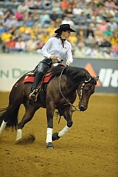 Shawna Sapergia and This Chics on Top WEG 2010 Reining