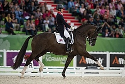 Charlotte Dujardn of GBR  and Valegro first in Team Grand Prix W