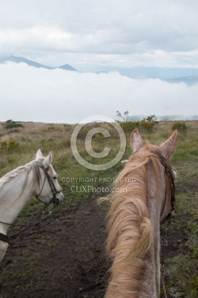 Riding Above the Clouds   on the Way to Bomboli